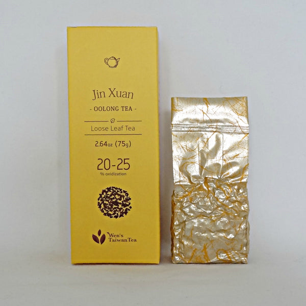 Jin Xuan Oolong tea retail box and pouch