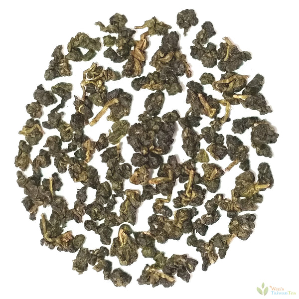 Jin Xuan Oolong tea in dry pellet form
