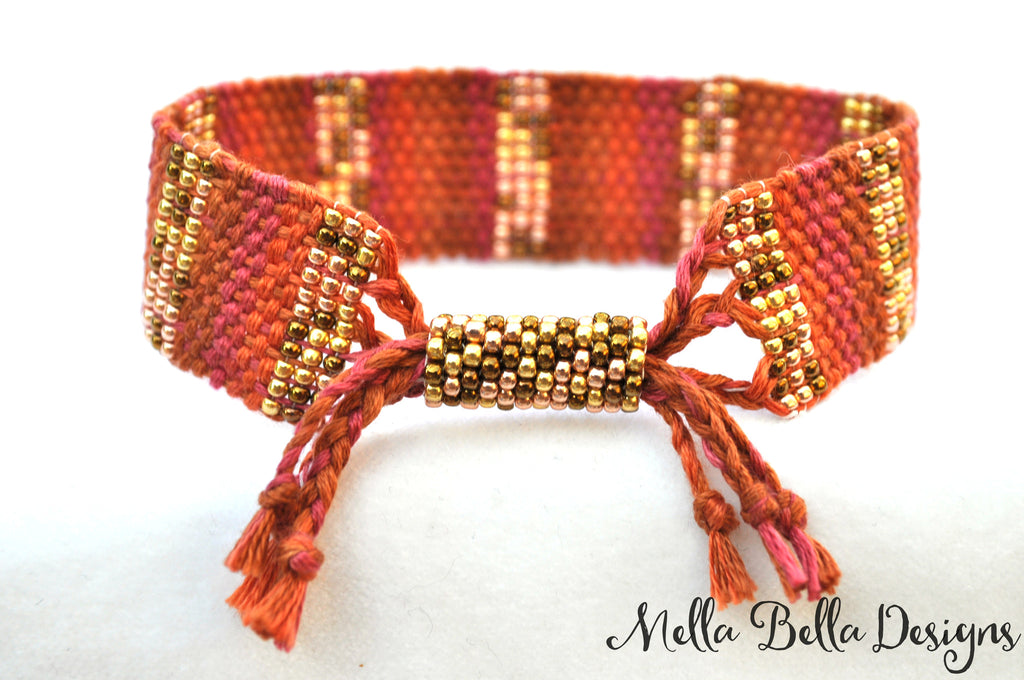 Copper Tones Bracelet (small beads)