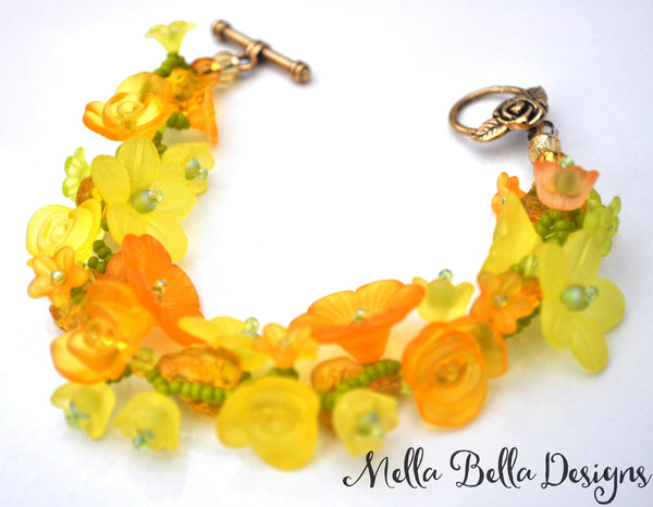 Yellow Flower Garland Bracelet