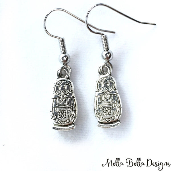 Marushka earrings - silver tone
