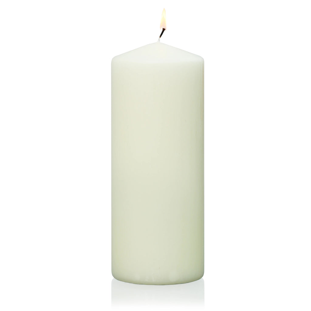 "12"" x  3"" Ivory Wrapped Pillar Candle"
