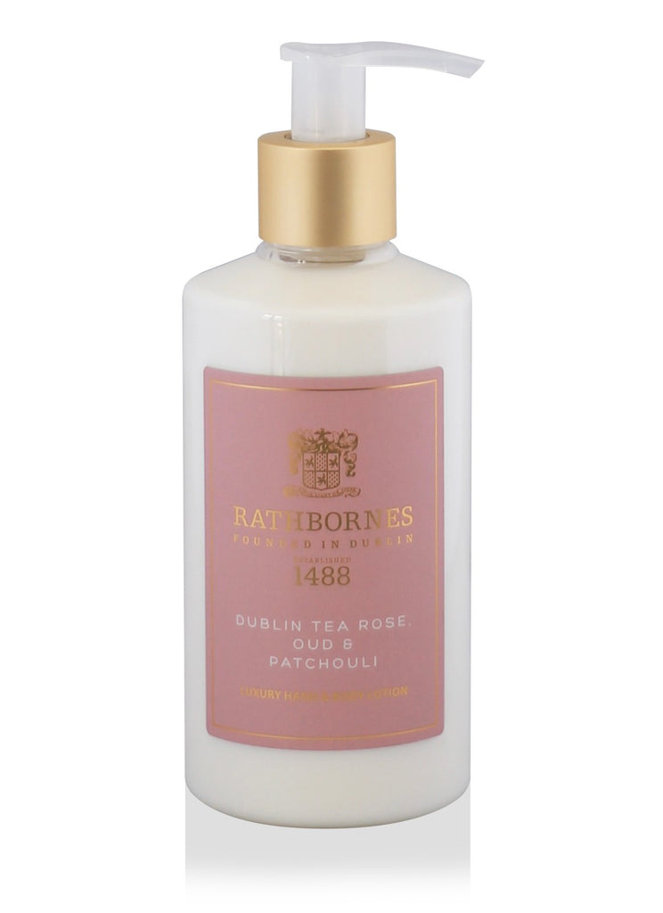 Dublin Tea Rose, Oud & Patchouli Luxury Hand and Body Lotion