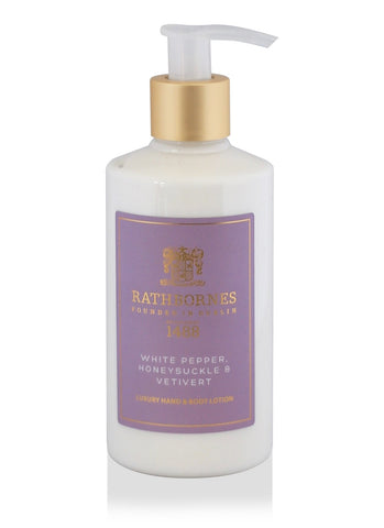 White Pepper, Honeysuckle & Vetivert Luxury Hand and Body Lotion