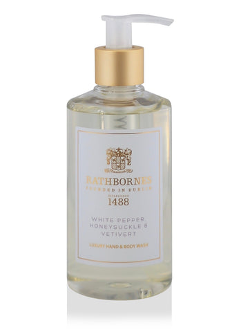 White Pepper, Honeysuckle & Vetivert Luxury Hand and Body Wash