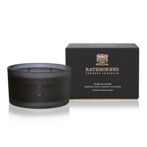 Smoked Oud & Ozone Accords Scented Luxury Candle