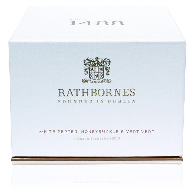 White Pepper, Honeysuckle & Vertivert Luxury Scented Candle