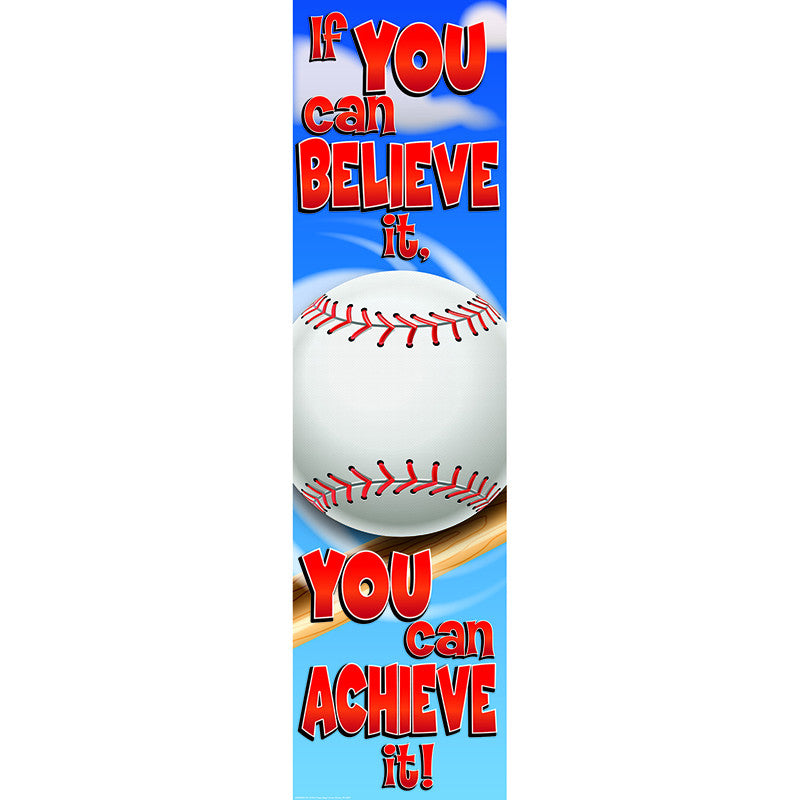 BASEBALL MOTIVATIONAL BANNER 4FT