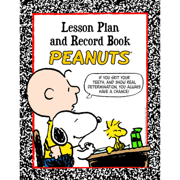 PEANUTS LESSON PLAN AND RECORD BOOK