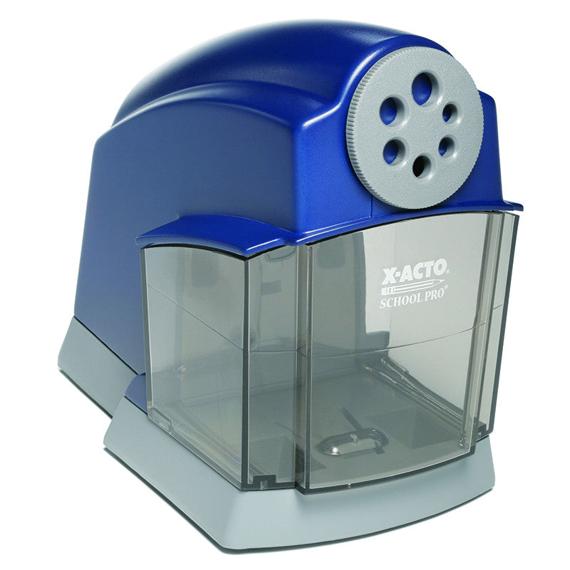 PENCIL SHARPENER ELECTRIC SCHOOL PRO BLUE-GRAY