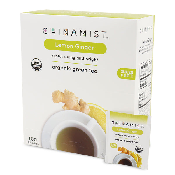 Lemon Ginger Organic Green Tea (100-ct.)