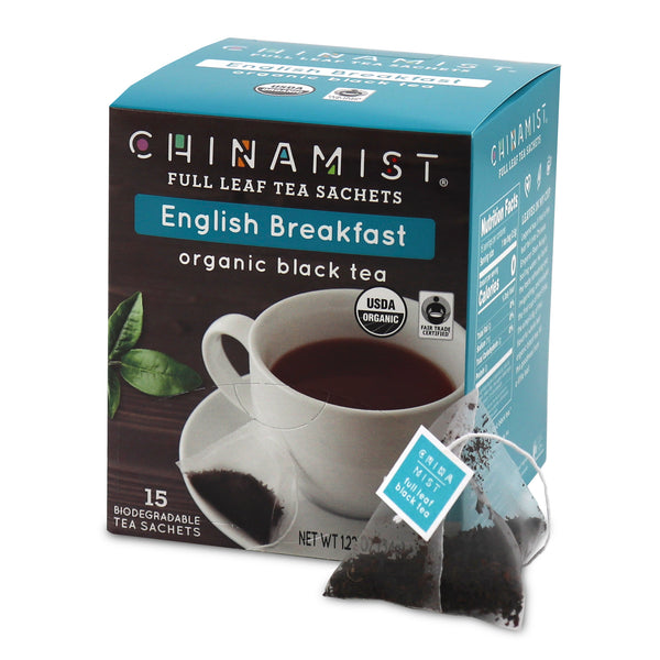 English Breakfast Organic Black Full Leaf Tea Sachet (15-ct.) [Classic Breakfast]