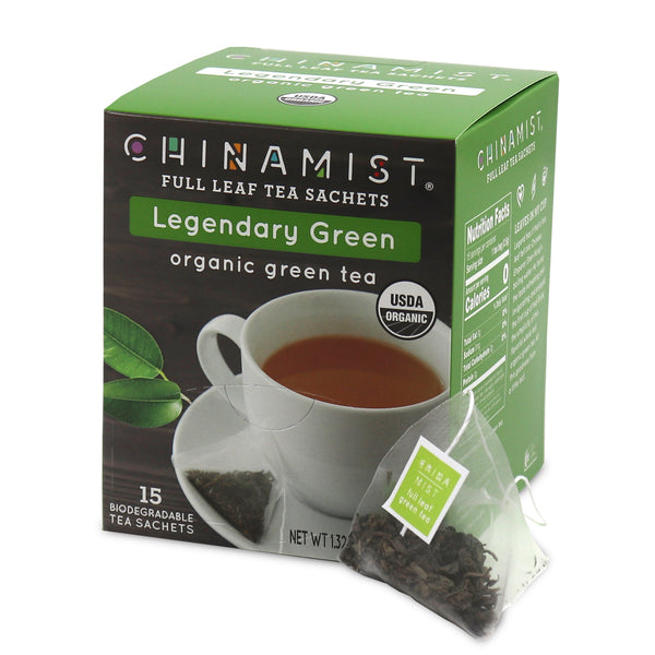 Legendary Green Organic Full Leaf Green Tea Sachet (15-ct.) [Organic Green]