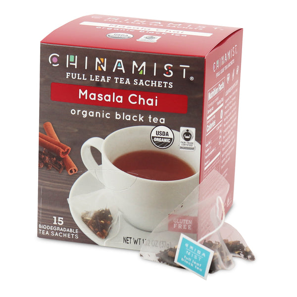 Masala Chai Organic Black Full Leaf Tea Sachet (15-ct.)