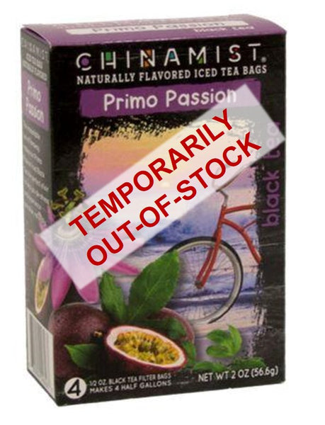 Out of stock: Naturally Flavored Primo Passion Black Iced Tea Filter Bags