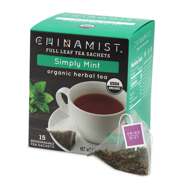 Simply Mint Organic Herbal Full Leaf Tea Sachet (15-ct.)