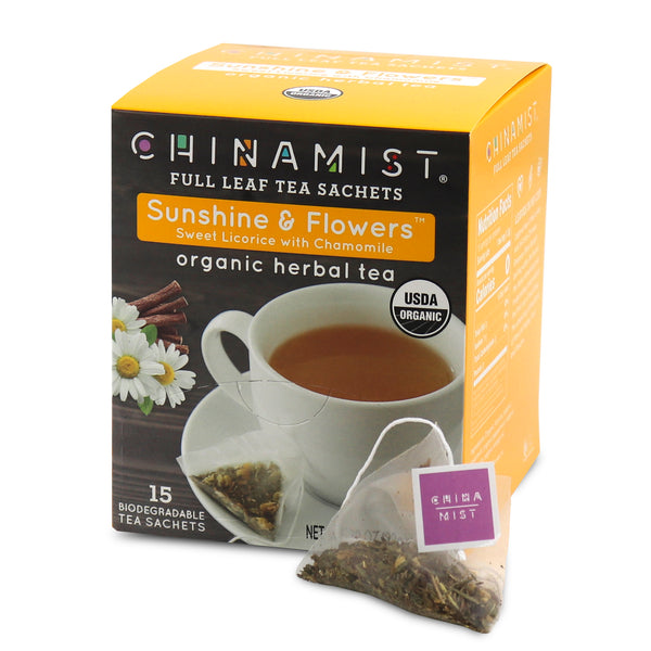 Sunshine & Flowers™ Sweet Licorice w/Chamomile Organic Herbal Tea Sachet (15-ct.)