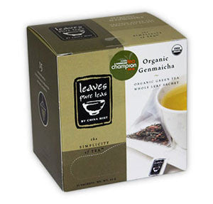 Organic Genmaicha Whole Leaf Green Tea Sachet (15-ct. box)