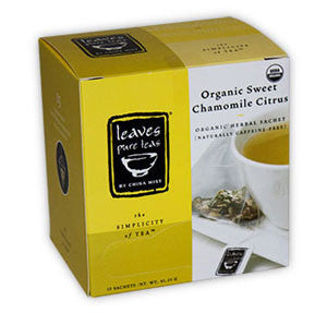 Organic Sweet Chamomile Citrus Whole Leaf Tea Sachet (15-ct. box)
