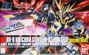 1:144 RX-O UNICORN GUNDAM 02 BANSHEE (DESTROY MODE)(HG)