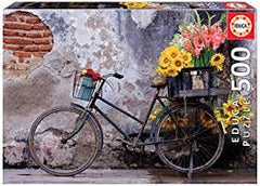 BICYCLE WITH FLOWERS (500PC)
