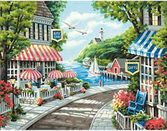 CAFE BY THE SEA (14IN X 11IN)