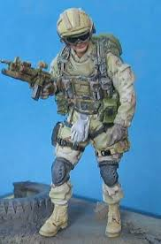 1:16 U.S. ARMY AFGHANISTAN STANDING SOLDIER WITH GUN