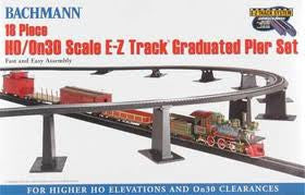 18 PIECE EZ TRACK GRADUATED TRESTLE SET