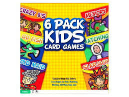 KIDS CARD GAMES - 6-PACK