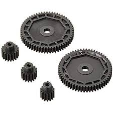 PINION & SPUR GEAR SET: 1:18 4WD ALL