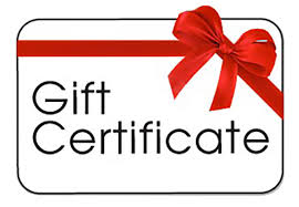 Gift Certificate: $25.00