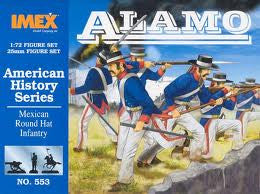 1:72 ALAMO MEXICAN ROUND HAT INFANTRY