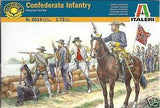 1:72 CONFEDERATE INFANTRY TROOPS (52)