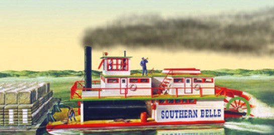 1:64 SOUTHERN BELLE STERN-WHEEL RIVER BOAT