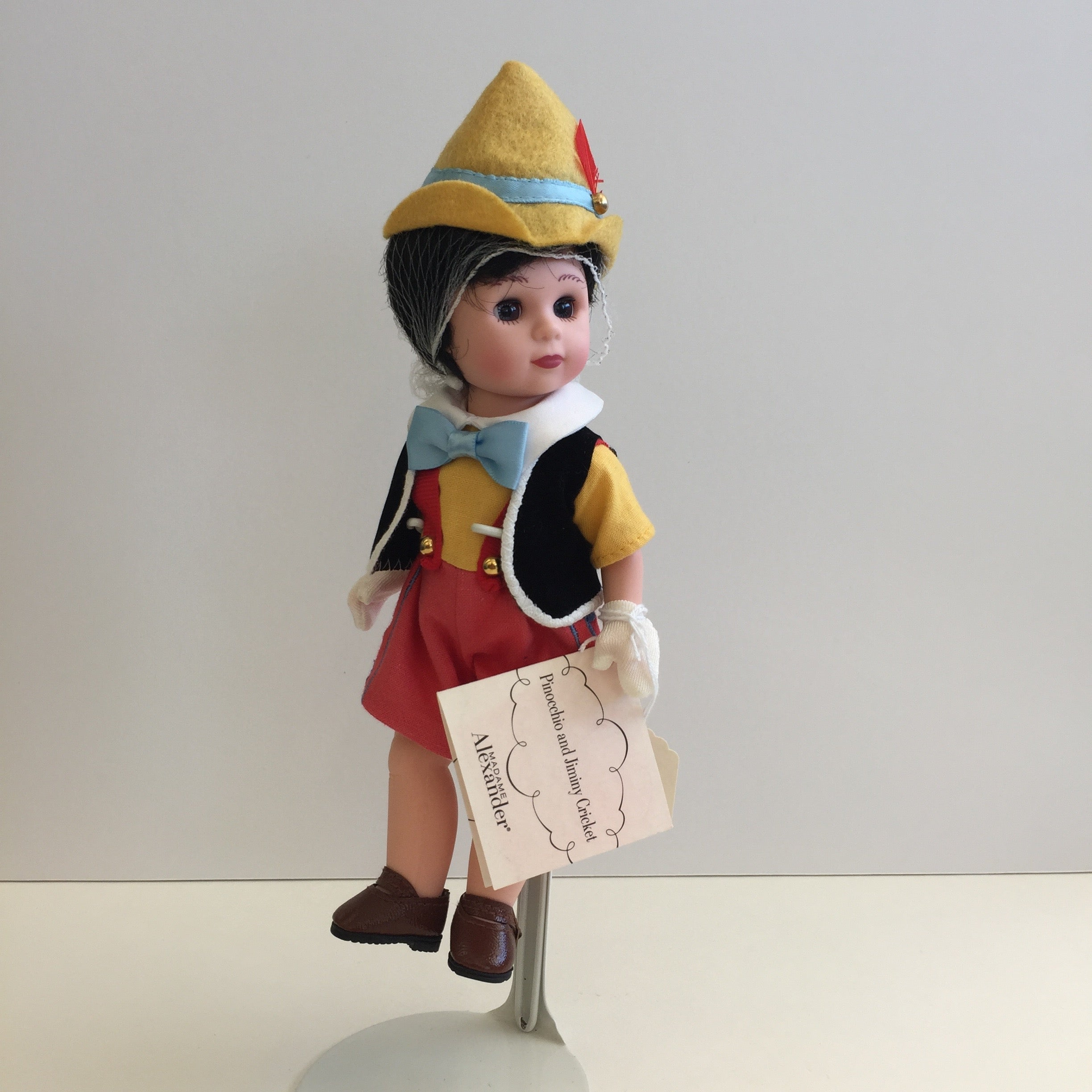 "Mint Condition 2004 Madame Alexander 8"" PINOCCHIO W/ JIMINY CRICKET Collectible Doll"