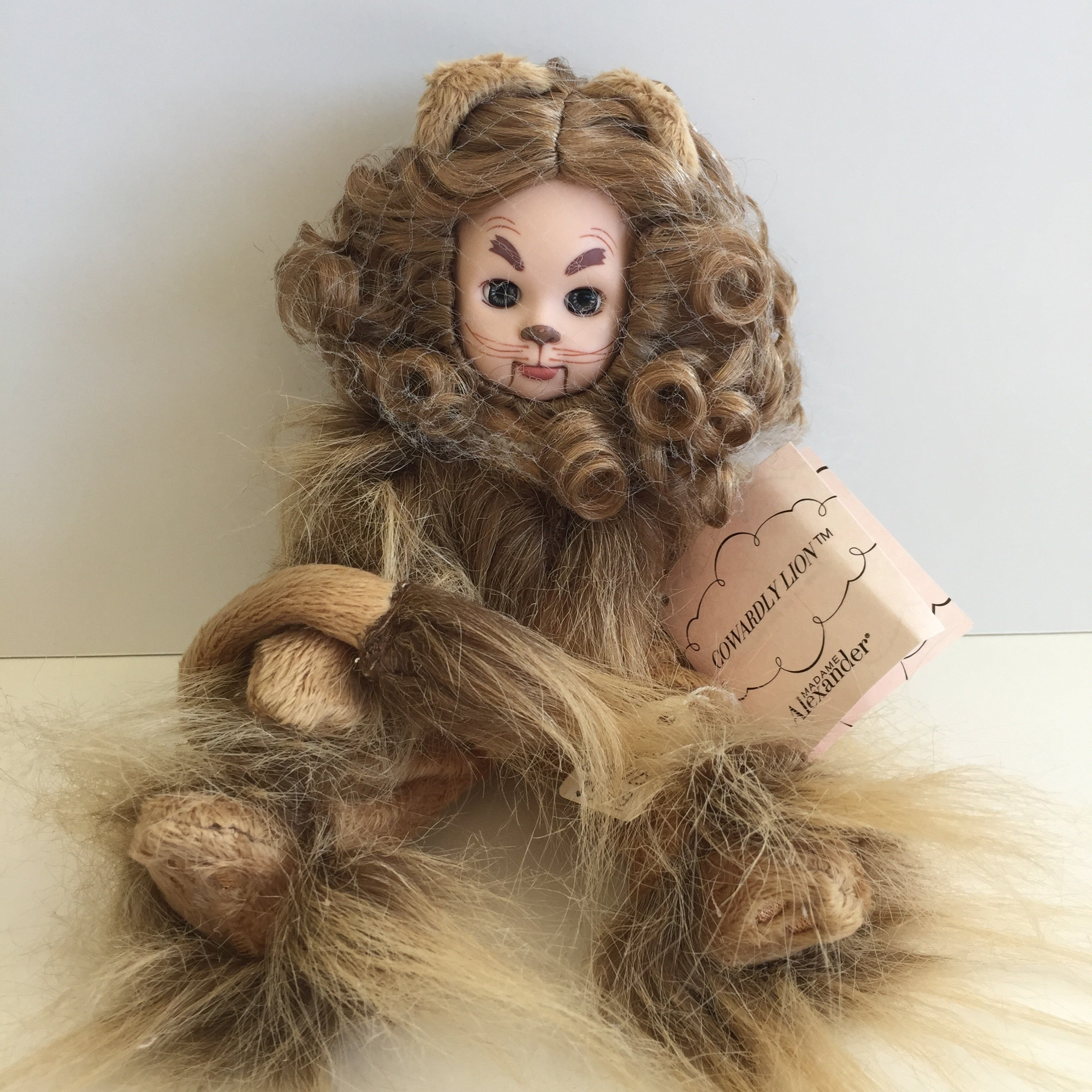 "2012 Madame Alexander 8"" WIZARD OF OZ- COWARDLY LION - Collectible Doll"