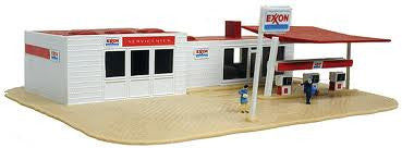 BUILT-UP EXXON GAS STATION
