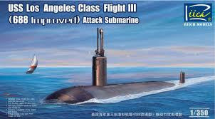 1:350 USS LOS ANGELES CLASS FLIGHT III 688 IMPROVED