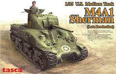1:35 M4A1 SHERMAN U.S. MEDIUM TANK (LATE PRODUCTION)