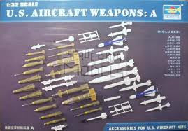 1:32 US MODERN AIRCRAFT WEAPONS SET