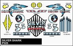 SILVER SHARK STICK-ON DECAL