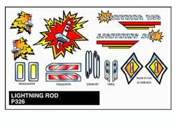 LIGHTNING ROD STICK-ON DECAL