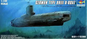 1:144 GERMAN TYPE XXIII LATE PRODUCTION U-BOAT