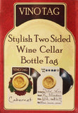 50 Double Sided Wine Tags - Elegant Wine Bottle Tags Perfect for any Wine Lover  **FREE SHIPPING** (US)