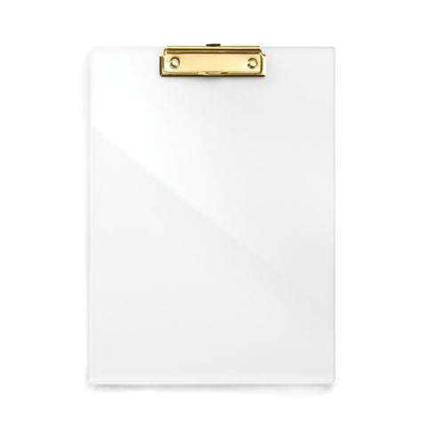 Acrylic & Gold Clipboard