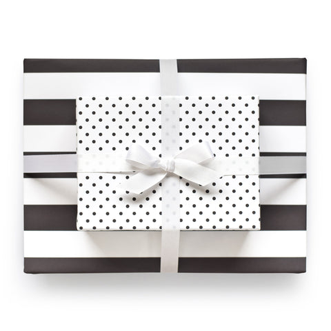 Black Reversible Gift Wrap