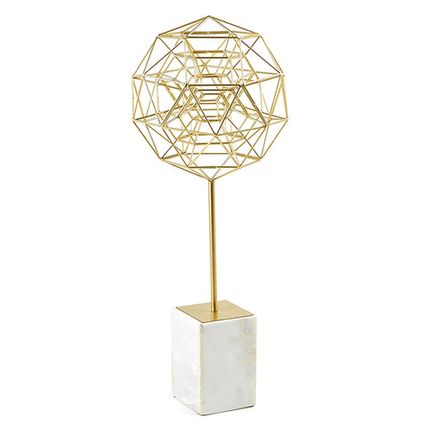 Geometric Sphere Sculpture