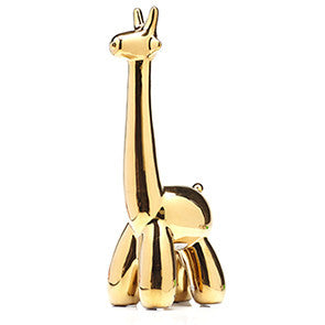 Gold Ceramic Giraffe Sculpture