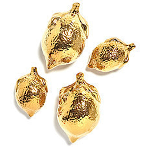 Gold Ceramic Lemons-Set of 4
