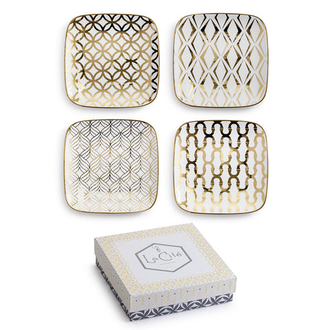 La Cite Square Plate-Set of 4